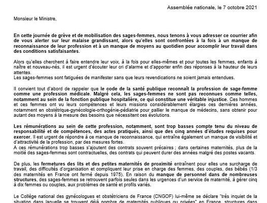 J'ai souhaité cosigner la lettre de mon collègue Fabien Di Filippo pour alerter le ministre des Solidarités et de la Santé sur le manque de moyens et de reconnaissance des sages-femmes
