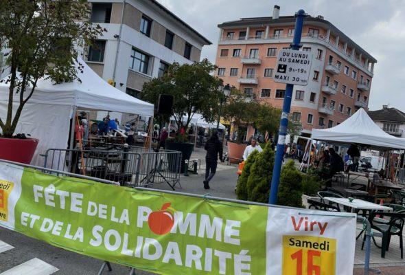 Saint-Julien / fête de la pomme et de la solidarité en faveur de l'association ALFAA (Association de lutte contre la faim de l'agglo Annemassienne)