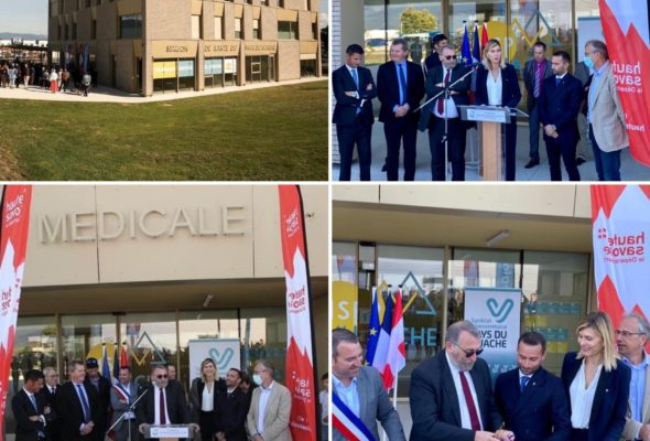 Valleiry / Inauguration de la Maison de santé pluridisciplinaire du Vuache en présence du secrétaire d'Etat en charge de la Ruralité Joël Giraud.