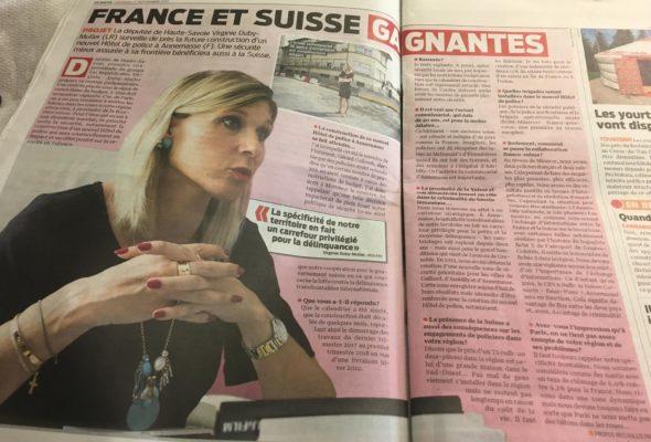 Interview dans LeMatin.ch sur le futur hôtel de police d'Annemasse